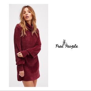 Free People New Moon Chenille Sweater Dress